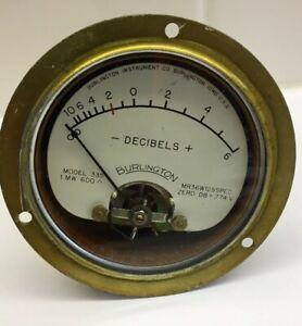 1-Burlington-Decibel-Meter-Model-335-Military-Sealed-3-1-2-034-Used-Untested