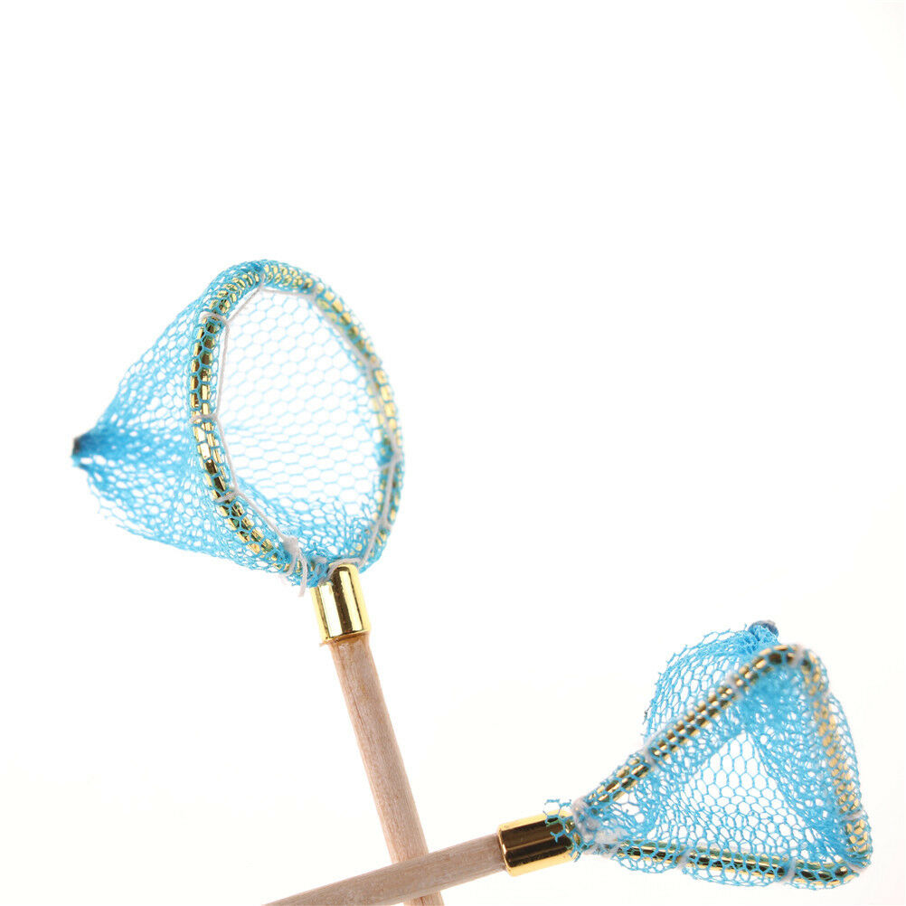 Dollhouse Miniature Wood Fishing Net Life Scene Decoration Outdoor Sports Toy S*