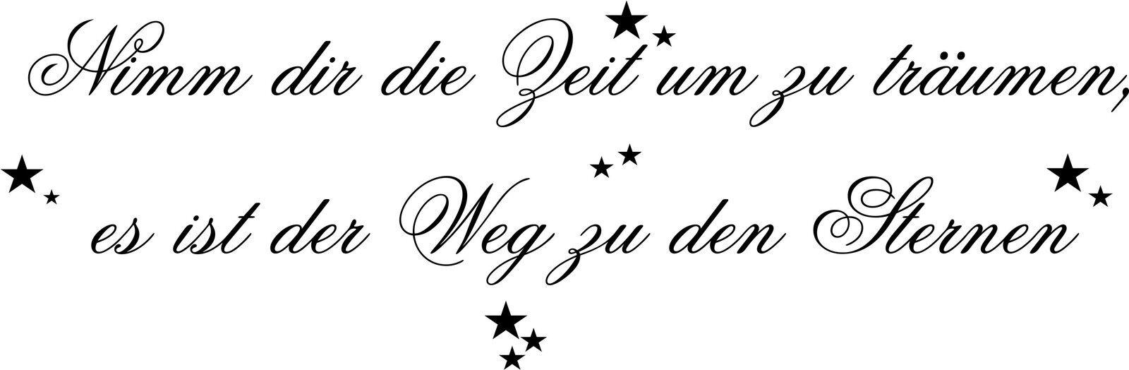 WANDTATTOO WANDTATTOO WANDTATTOO Spruch  Nimm dir die Zeit um zu träumen  - Sterne Wandaufkleber 9046a8