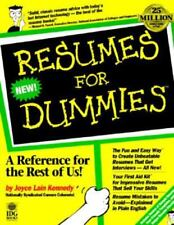 for dummies resumes for dummies by joyce lain kennedy - Resumes For Dummies