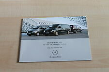 151093) Mercedes Vito Kombi + Kastenwagen - Preise & Extras - Prospekt 09/2006
