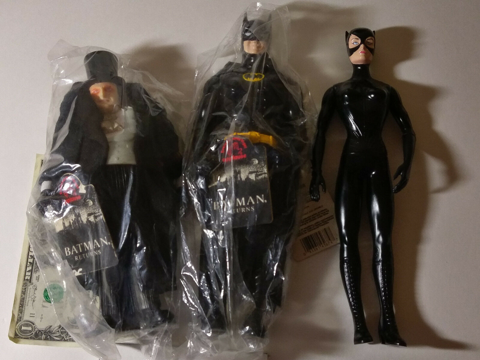 Batman Returns 11  Batman, Catwoman, Penguin figures by Applause 1992