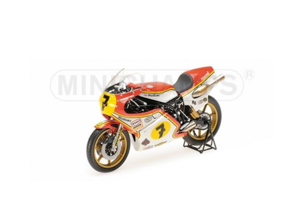Minichamps 122 770007 Suzuki RG500 Modelo Bicicleta Barry Sheene campeón W 1977 1 12
