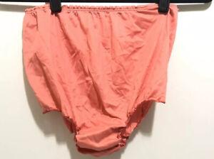 Vintage Thin Soft Pink Coral Nylon Bikini Panties High Waisted Sissy Size Small