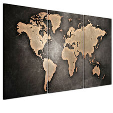 HD Canvas Prints Home Decor Wall Art Painting-Vintage World Map Unframed #L59