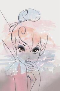 Disney-Bilder-Wandbild-Keilrahmen-Leinwand-Kunstdruck-Tinkerbell-Art-006