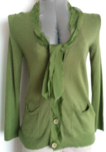 Verde Angora Trim Taglia Cardigan S 100 Jigsaw Knit menta Silk Fine UxvHqwY