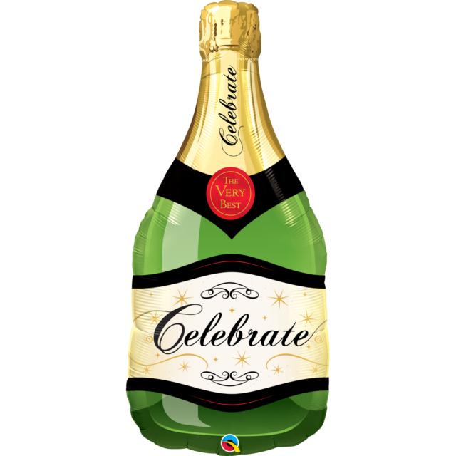 Qualatex 99.1cm Super Form Folien Ballon - Champagnerflasche
