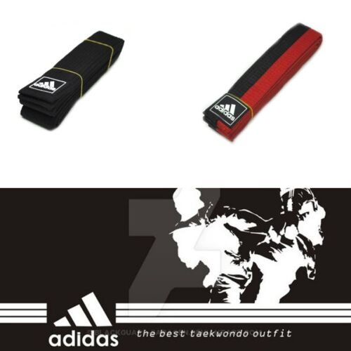 Adidas Taekwondo Belt Black Red Karate Martial Aart Judo Hapkido 170 190 210cm