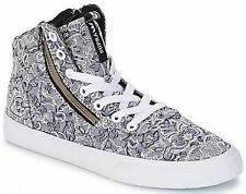 SUPRA WOMENS-CUTTLER Textile Mid-Top SKATE TRAINERS Size 3.5 EU 36.5 (New)