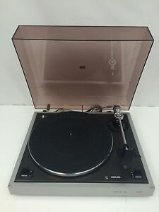 Vintage-Philips-437-Electronic-Turntable-Record-Player-2-Speed-Belt-Drive-Works