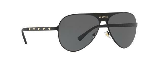 Ve2189 Black Versace 59mm Authentic 142587 Sunglasses Matte Frames shrtdQC