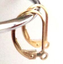 10x Leverback 14k gold filled plain lever back earring ear wire with ring E48g