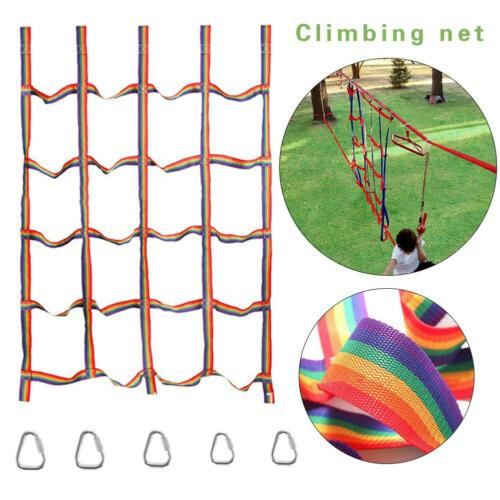 Rainbow Ribbon Net Physical Training Climbing Net For Outdoor Sports Portable US