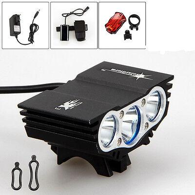 6000Lm 3x CREE XM-L U2 LED Torcia anteriore della bicicletta del faro della bici
