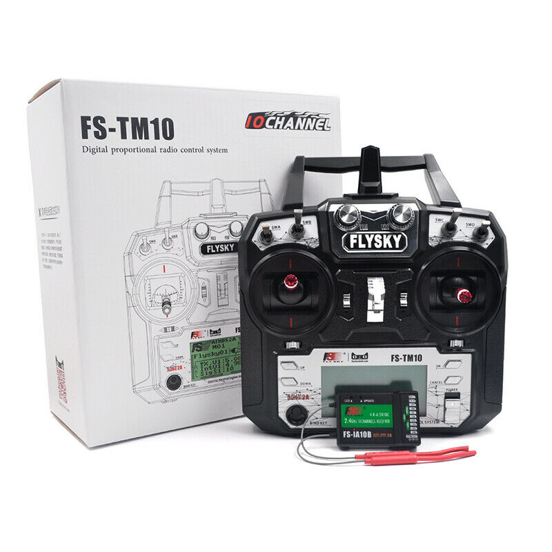 Flysky FS-TM10 2.4G 10CH RC Transmitter with IA10B RX For FPV Racing Car Boat