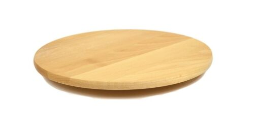 Rotation Plateau en bois ronde Lazy Susan 40 cm portion solide plaque pizza Board