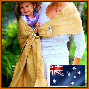 Walkabout Baby Child Sling Ring Carrier Wrap Pouch Latte Cotton