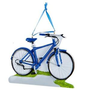 Image Is Loading Kurt S Adler Polyresin Hand Painted Blue Bicycle