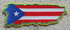 PUERTO RICO FLAG MAP PATCH Cloth Badge Biker United States of
