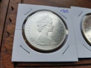 1965-Canada-Silver-One-dollar-Elizabeth-II