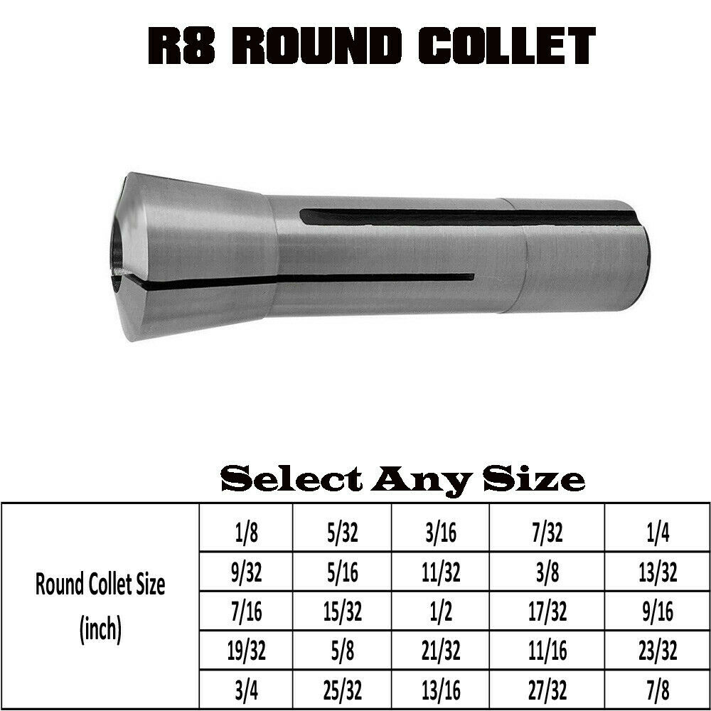 Royal Products Ultra-Precision ER Collet Round 1//4 Diameter ER-32