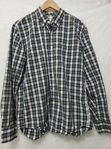 Tailored fit  J. Crew Mens Shirt Large Cotton Blue Plaid Long Sleeve Button up
