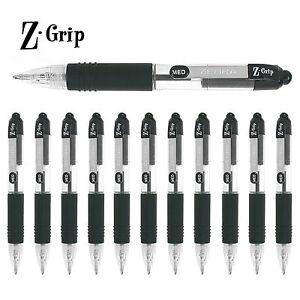Zebra-Z-Grip-Mini-Retractable-Ballpoint-Pens-Black-Ink-Pack-of-12
