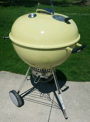 Weber Master Touch.New European Weber Master Touch Charcoal Kettle Grill Lemongrass Gbs New
