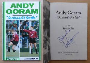 Andy-Goram-Scotland-039-s-for-Me-Signed-Book-Rangers-Hibernian-amp-Oldham-COA-16527