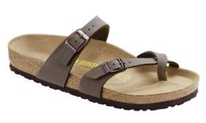 BIRKENSTOCK-Mayari-Birko-Flor-Nubuc-Zapatos-Mujer-Solapa-Zuecos-Sandalias