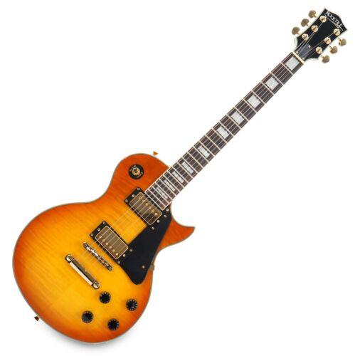 E-Gitarre Tonabnehmer Humbucker PickUp Mahagoni Kabel Gloss Orange Honey Burst