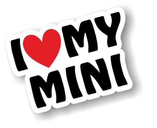 I LOVE HEART MY MINI Slogan For Classic or BMW Mini Cooper S Design car sticker