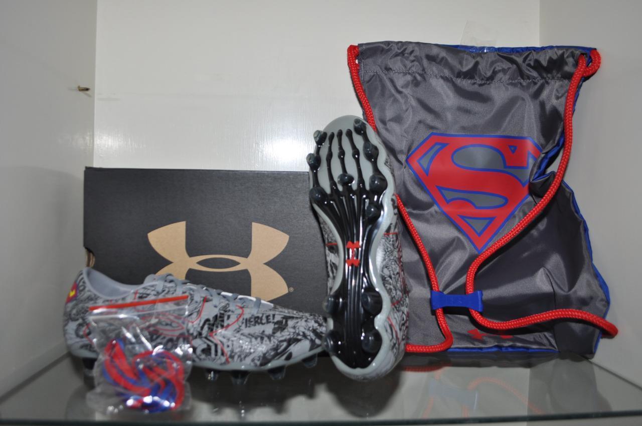 Under Armour  Herren Alter Ego SUPERMAN ClutchFit Force 2.0 FG Soccer Cleats NIB