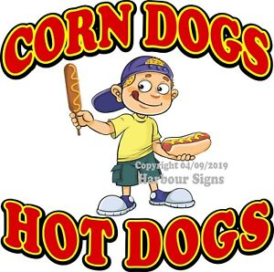 Hot Dogs DECAL Concession Food Truck Vinyl  Sticker Sign Choose Your Size