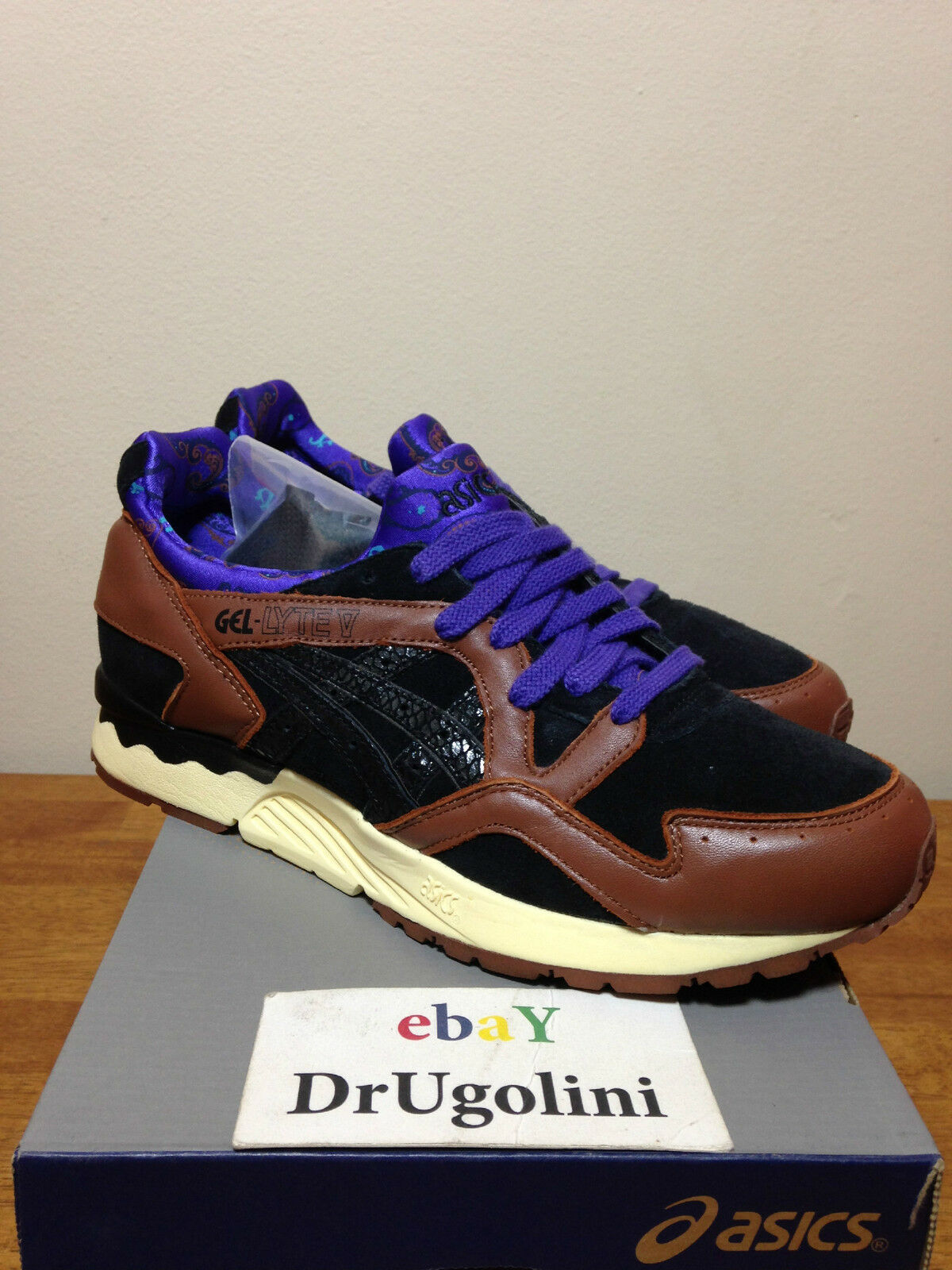 ASICS X EXTRA BUTTER GEL LYTE V 8-12 BROWN H31FK-8690.