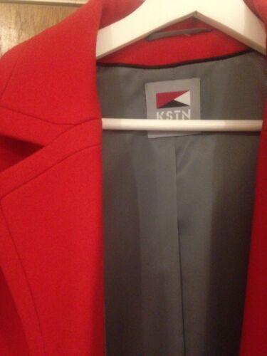 Coat Bnwt Red Virgin Uk 12 Kstn By Kirsten Rrp 80 Designer £199 Woman's Wool PwvqFzza