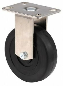E.R. Wagner 4 Inch Diameter x 1-3/8 Inch Wide, Rigid Caster with Top Plate Mo...