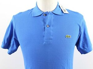 NWT-Lacoste-3-Classic-Short-Sleeve-Polo-Shirt-MENS-XS-Gypsy-Blue-Cotton-Pique