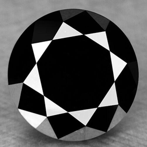 1.21 Cts EXCELLENT RARE QUALITY DEEP JET 100% NATURAL BLACK DIAMONDS