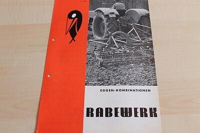 Rabewerk Prospekt 02/1972 Eggenkombination Ambitious 144443