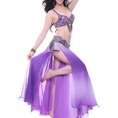A007 Danza Del Ventre Costume 3 Pezzi Reggiseno Cintura E Gonna Belly Dance- Un Rimedio Sovranazionale Indispensabile Per La Casa