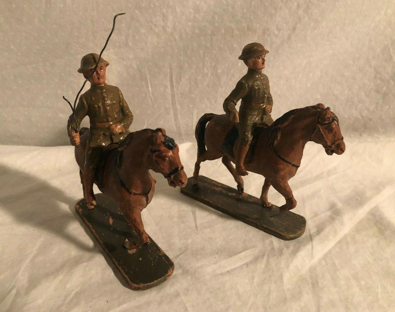 Elastolin Hausser Große Größe 10cm Soldat Viele Pferde Reiter Deutschland