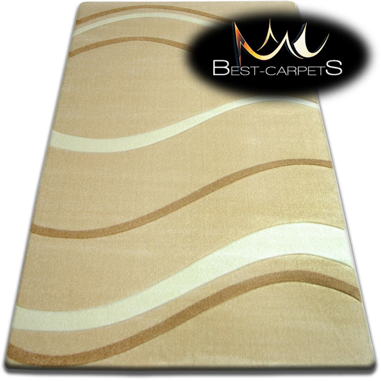 Design moderne doux très doux moderne tapis focus 8732 grande taille s épais qualité sculpté f64ecc