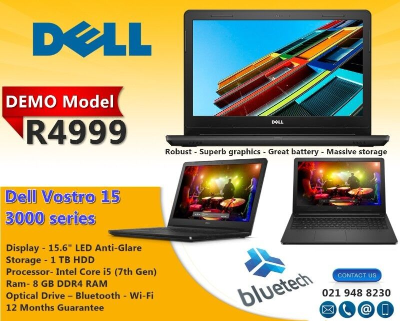 Dell Vostro 15 3000 Series Core i5 7th Gen - (4 GB/1 TB  HDD/15 6inch/Windows 10) | Bellville | Gumtree Classifieds South Africa |  223783589