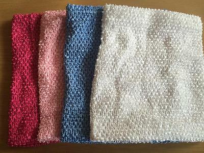 Lined Crochet Tube Top Tutu Supplies 10 x 12 8 x 10  Inches Headbands