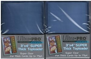 50-Ultra-Pro-3x4-Extra-Thick-Toploaders-75pt-2-Packs-of-25-Free-Shipping