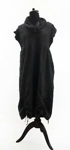 MASAI-Unusual-Grey-Crushed-Parachute-Sack-Oversized-Lagenlook-Dress-M