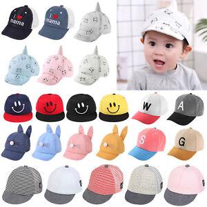 c5b4d210e45 Baby Boys Girls Hats Autumn Summer Cotton Eaves Baseball Sun Hat Cap ...