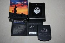 (PL) 2012 Australia Kangaroo At Sunset $1 Fine Silver Proof Coin ROYAL MINT RAM